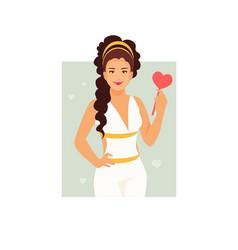 Goddess aphrodite vector