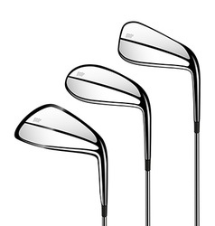 Golf sticks isolated on the white as design vector image