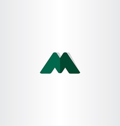 green logotype element letter m symbol vector image