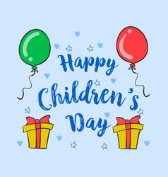 Happy children day style collection vector