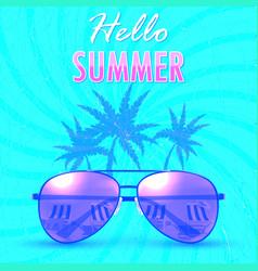 hello summer summer backgroundbanner vector image