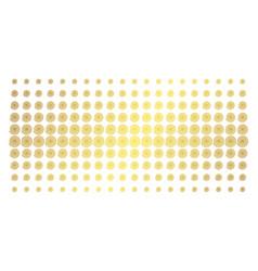 Hypnosis golden halftone grid vector