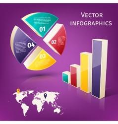 Infographics 3d set vector image