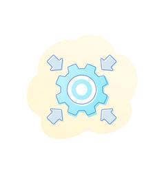 Integration icon with cogwheel gear vector