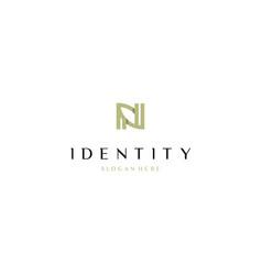 Letter n leaf naturally creative business logo vector