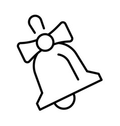 linear vintage school bell icon vector image