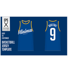 Minimal basketball uniform template design vector