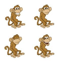 monkey moods vector image