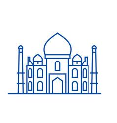 mosque islam line icon concept mosque islam vector image