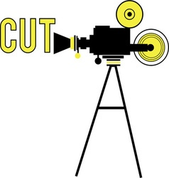 Movie Camera - Cut vector image