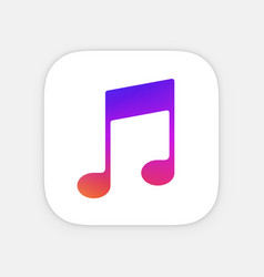 music note app icon template mobile application vector image