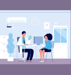 patient in doctor office physician medical vector image