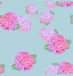 pattern with blooming hydrangea vector image