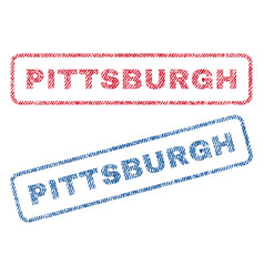 Pittsburgh textile stamps vector
