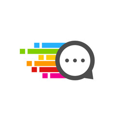 pixel art chat logo icon design vector image