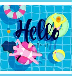 Poster hello summer vector
