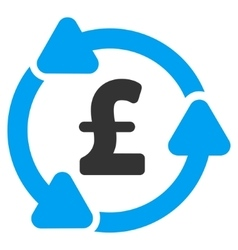 Pound Circulation Flat Icon Symbol vector
