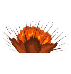 power explosion icon cartoon style vector image