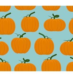 Pumpkin seamless pattern Background of Orange vector image