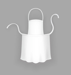 realistic white cooking apron vector image