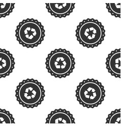 recycle symbol label icon seamless pattern vector image
