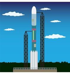 rocket launch platform vector image