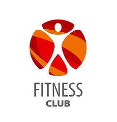 Round logo for fitness center vector