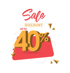 Sale discount up to 40 template design vector