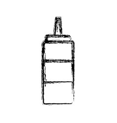 sauce bottle condiment ingredient cooking linear vector image