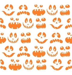 Scary Halloween seamless doodle pattern vector