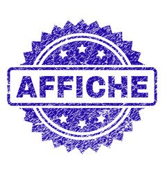 Scratched affiche stamp seal vector