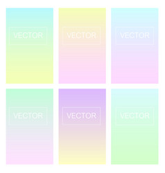 screen gradient set with modern abstract backgroun vector image