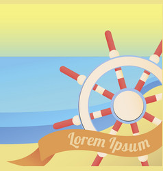 sea and nautical colourful summer vector image