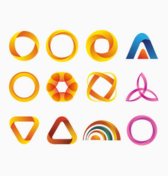set of templates gradient logos vector image