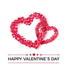 silhouette couple hearts from paper confetti vector image