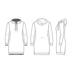 Simple outline drawing of sweetdress vector