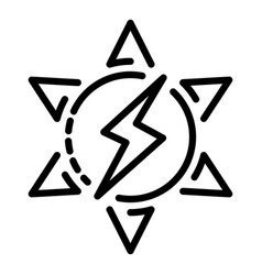 solar energy icon outline style vector image