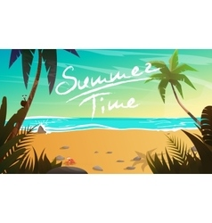 Summertime cartoon vector