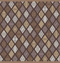 tribal geometric ornament vector image