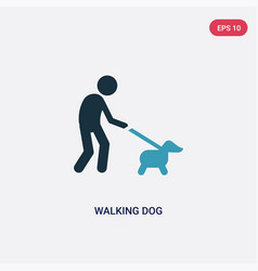 Two color walking dog icon from animals concept vector
