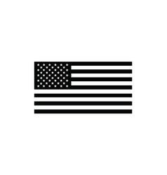 united states flag black and white vector image