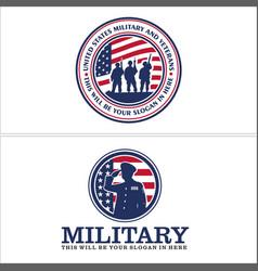 United states military emblem logo design vector