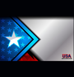 usa flag color background vector image