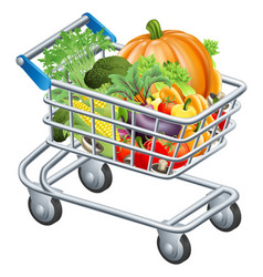 vegetable trolley vector image
