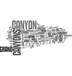 What then is this grand canyon text word cloud vector