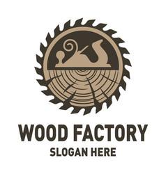 Wood factory logo design inspiration vector