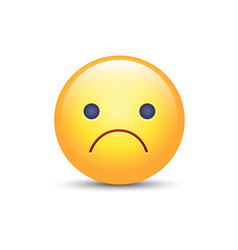Worried cartoon emoji frustrated vector