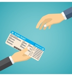 Businessman Receiving Boarding Pass at Airport vector image