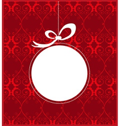 Christmas frame design vector image
