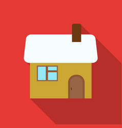 christmas house icon in flat style isolated on vector image vector image